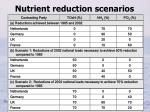 nutrient reduction scenarios
