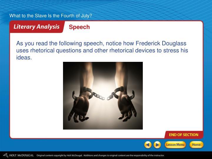 frederick douglass fourth of july speech analysis