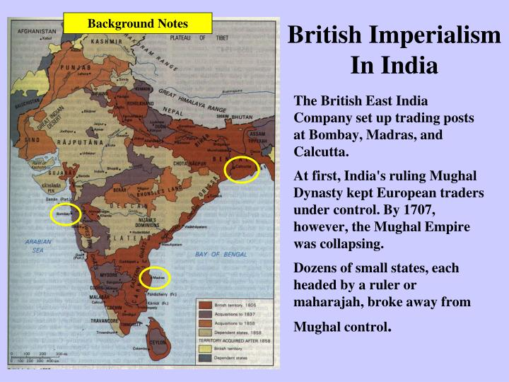 imperialism in india essay Imperialism in india in india the british colonization had more positive affects than negative for instance, when the british colonized india they built 40,000 miles of railroad and 70,000 miles of paved roadway.