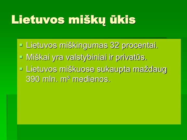 Lietuvos miškų ūkis