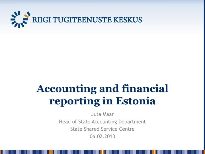 accounting and financial reporting in estonia n.