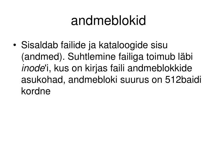 andmeblokid