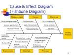 cause effect diagram fishbone diagram
