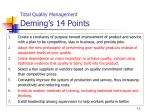 total quality management deming s 14 points
