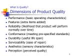 what is quality dimensions of product quality