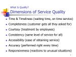 what is quality dimensions of service quality