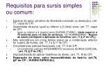 requisitos para sursis simples ou comum