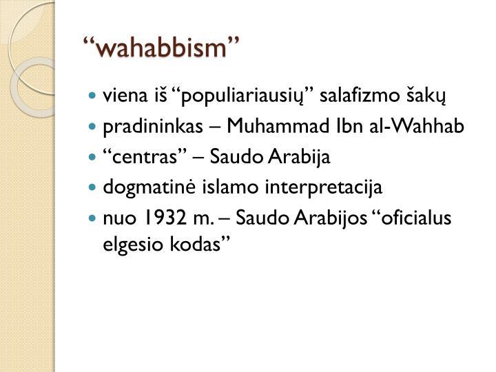 """wahabbism"""