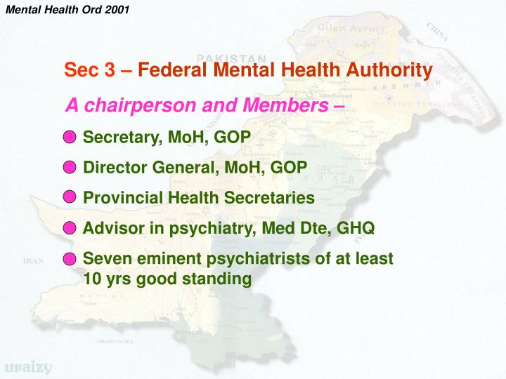 Mental Health Ord 2001