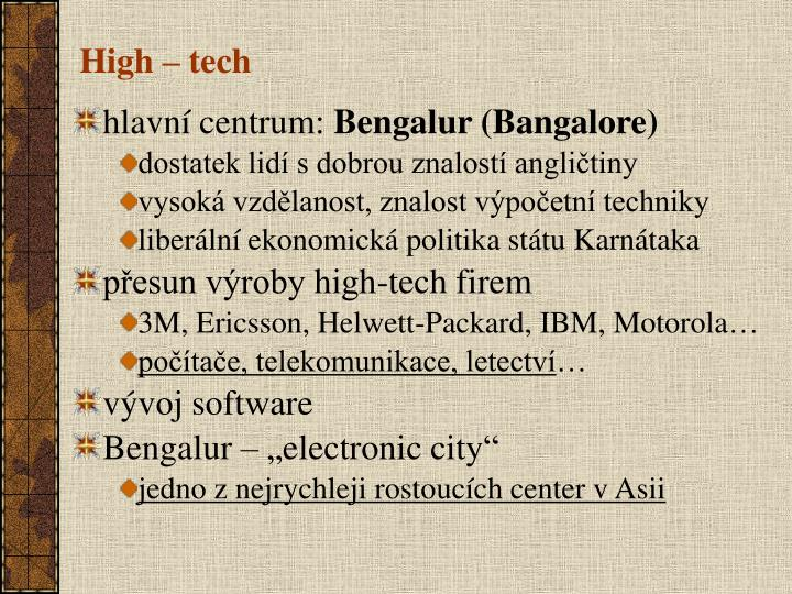 High – tech