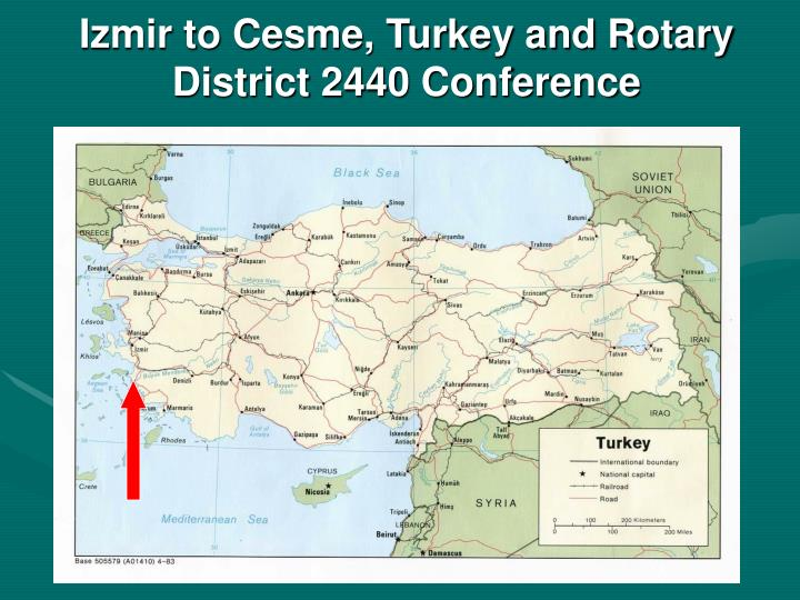 Izmir to Cesme, Turkey and Rotary District 2440 Conference