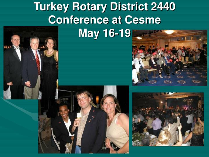 Turkey Rotary District 2440 Conference at Cesme