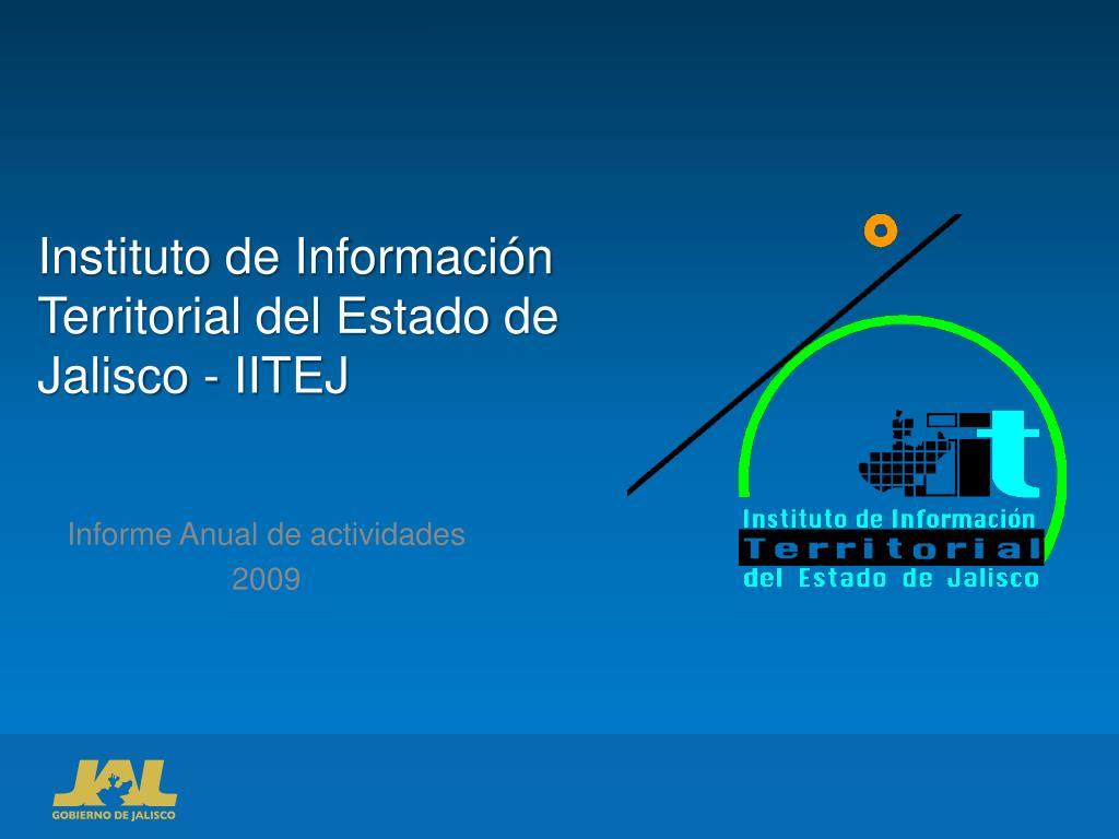 Ppt Instituto De Información Territorial Del Estado De