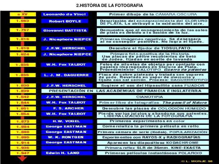 2.HISTÒRIA DE LA FOTOGRAFIA