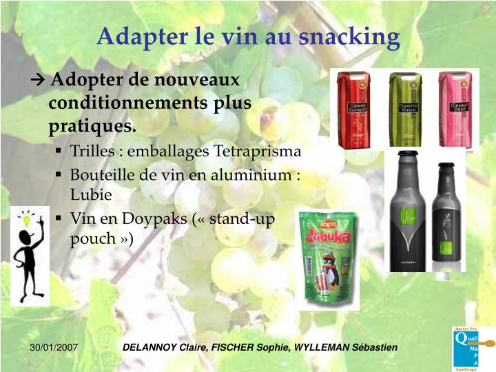 Adapter le vin au snacking