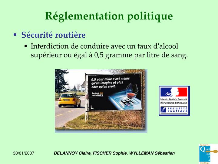 Réglementation politique