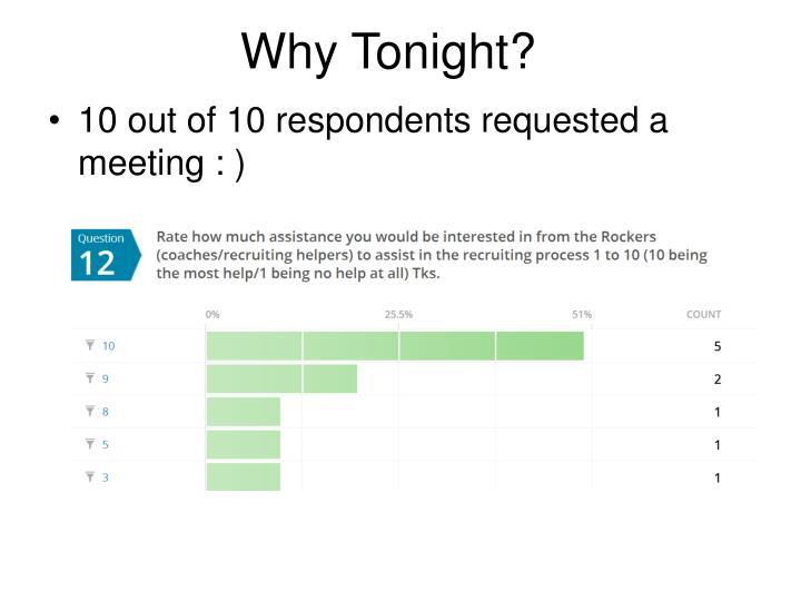 Why Tonight?