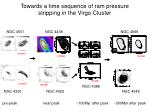 towards a time sequence of ram pressure stripping in the virgo cluster