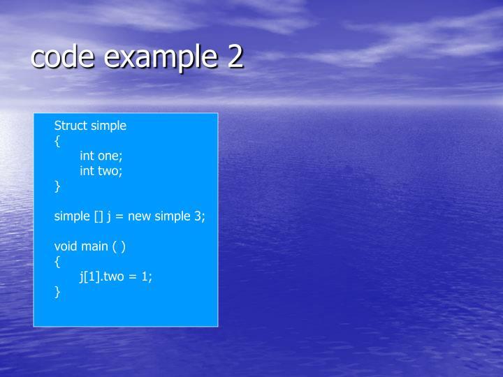 code example 2