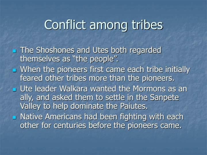 Conflict among tribes