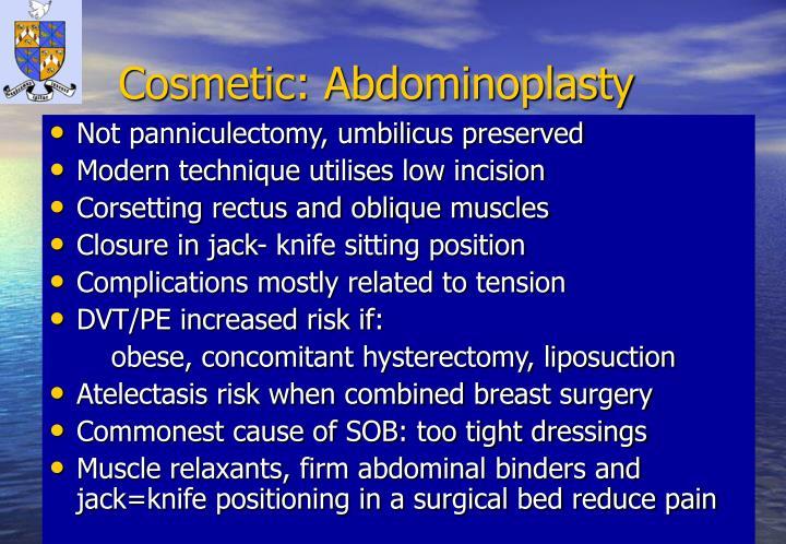 Cosmetic: Abdominoplasty