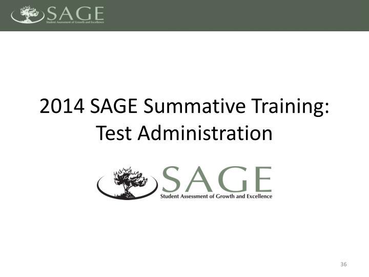 2014 SAGE
