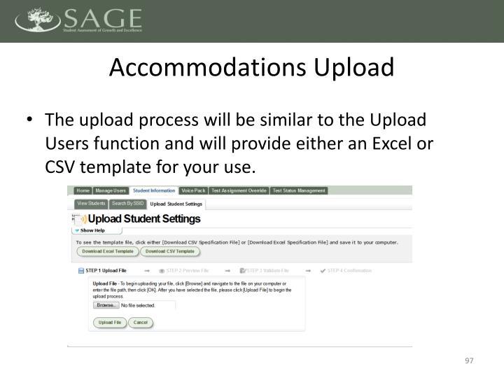 Accommodations Upload
