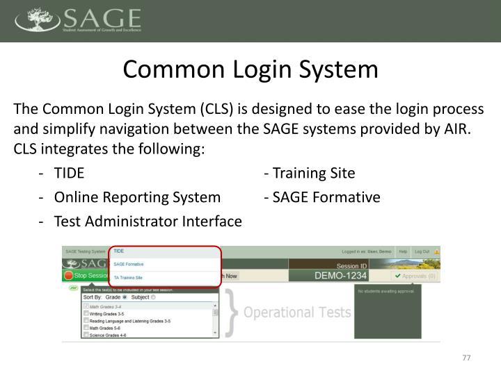 Common Login System
