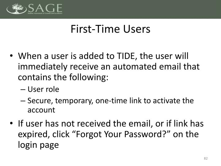 First-Time Users