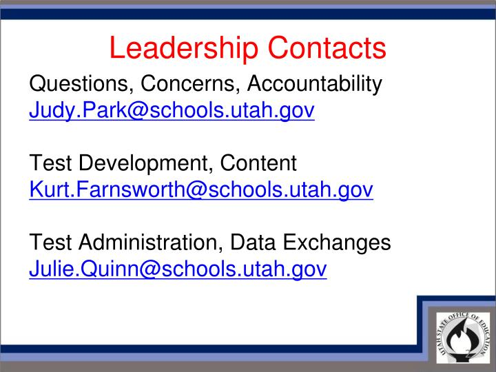 Leadership contacts