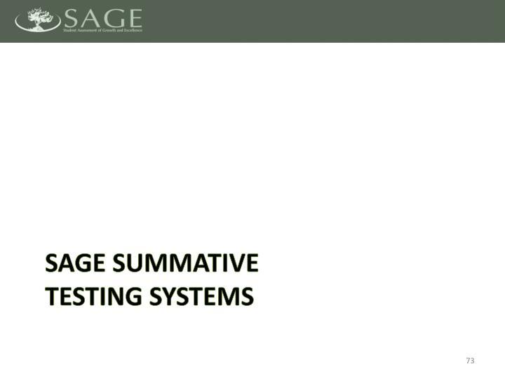 SAGE Summative
