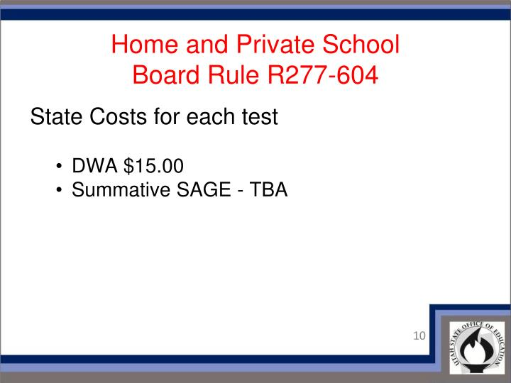 Home and Private School