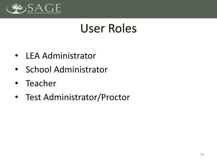 User Roles