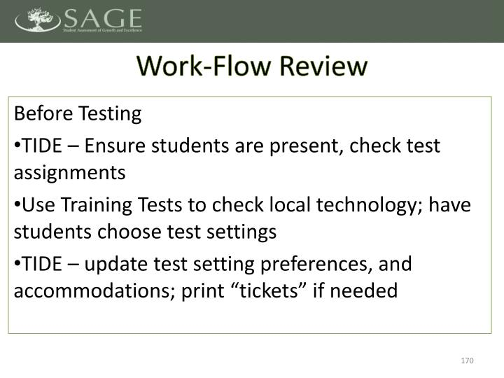 Work-Flow Review