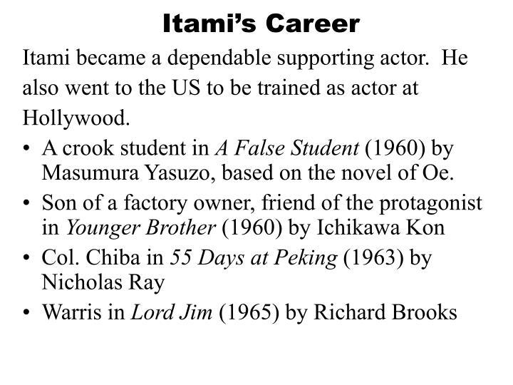 Itami s career1