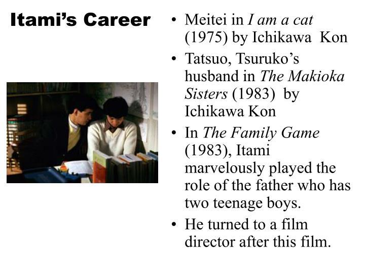Itami's Career