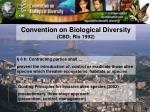 convention on biological diversity cbd rio 1992
