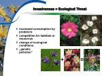 invasiveness ecological threat