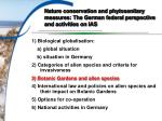 nature conservation and phytosanitary measures the german federal perspective and activities on ias1