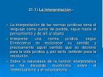 21 1 la interpretaci n