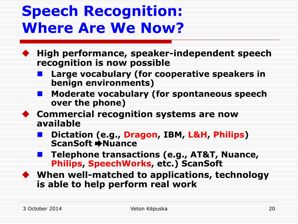 PPT - ECE-5527 Speech Recognition PowerPoint Presentation - ID:5102433