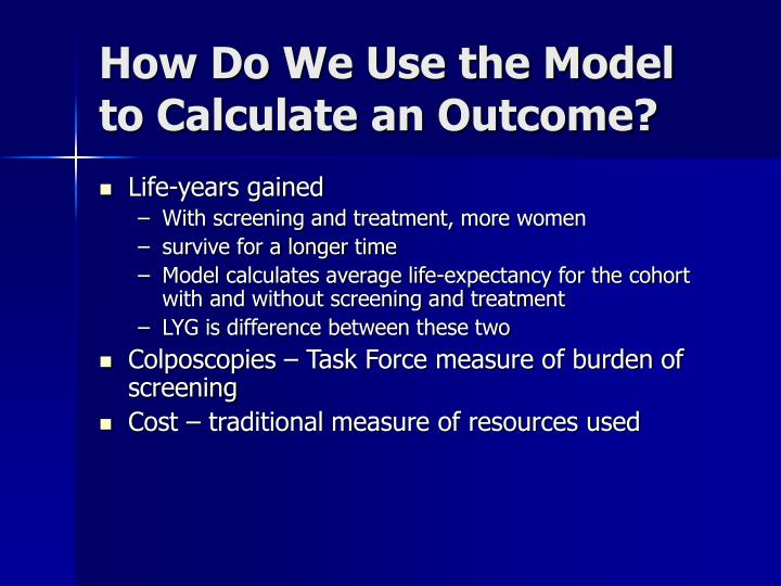 How Do We Use the Model to Calculate an Outcome?