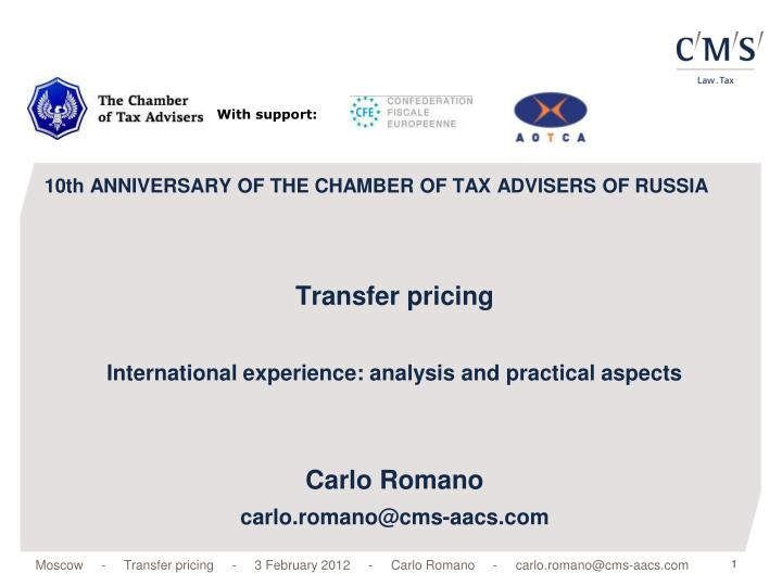10th anniversary of the chamber of tax advisers of russia