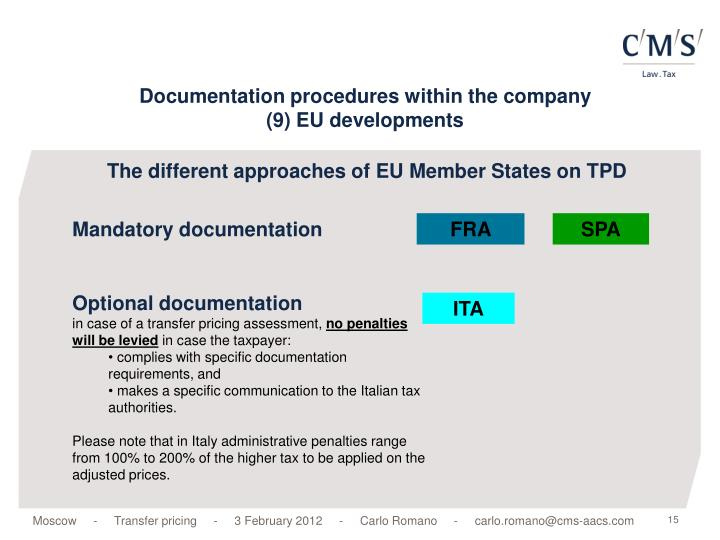 The different approaches of EU Member States on TPD