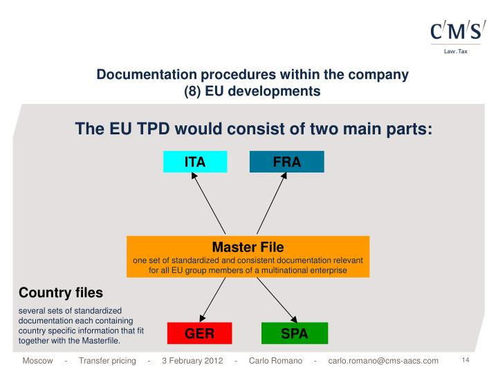 The EU TPD would consist of two main parts: