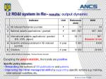 i 2 rd i system in ro results output dynamic