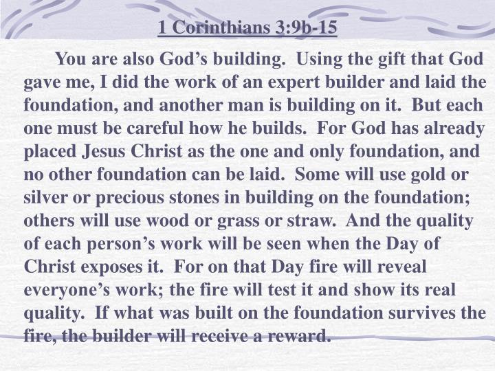 1 Corinthians 3:9b-15
