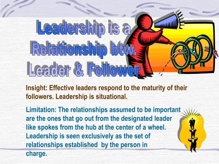 Leadership is a