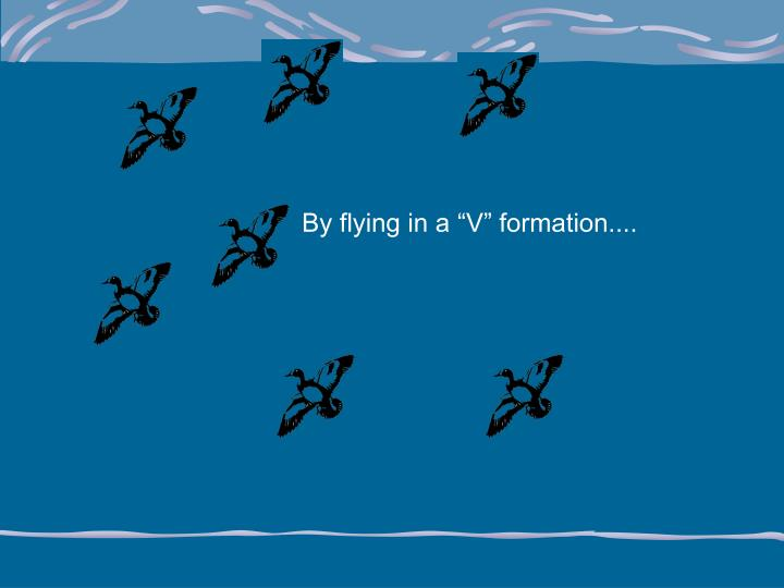 """By flying in a """"V"""" formation...."""