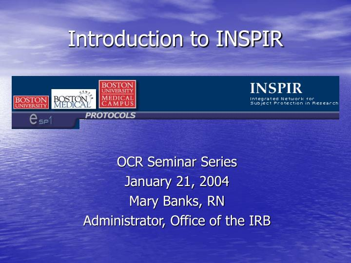 introduction to inspir n.